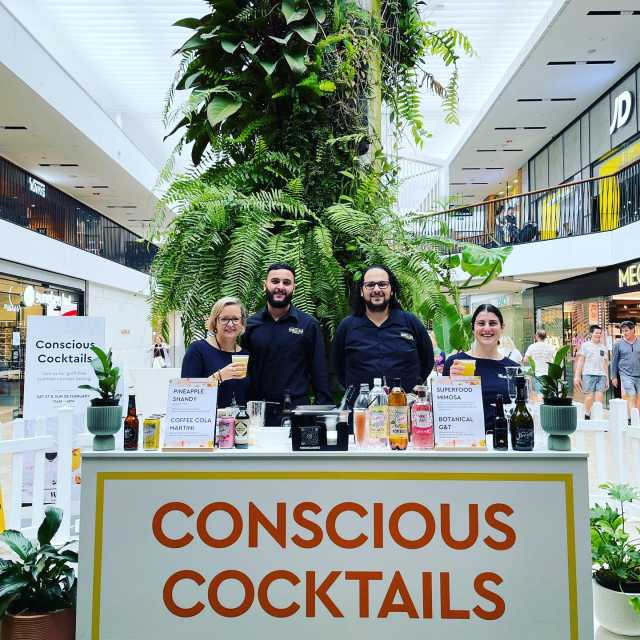 Conscious Cocktails on 27th and 28th of February at Westfield Warringah Mall . Thank you @wholesomecook Martyna for having us be apart of your event . Cocktails / Mocktails  Botanical G&T Superfood Minosa Coffee Cola Martini Pineapple Shandy . Entertainment - Dj @jadeleflay . Mixologists - Joey, Anthony, Ryan and Tara . Waitering staff @merisachandra @l.mahe  . @westfieldwarringahmall @wholesomecook @manlyspirts @Nexba @nakedfoods @thejuicebrothersaustralia @wild.noni @albertonaniprosecco @inbloomfloristaus .  #consiouscocktails #sydney #city #events #bartenderlife #bartenders #mixoligist #themobilebarco #drinks #cocktails #afterworkdrinks #drinks #westfields