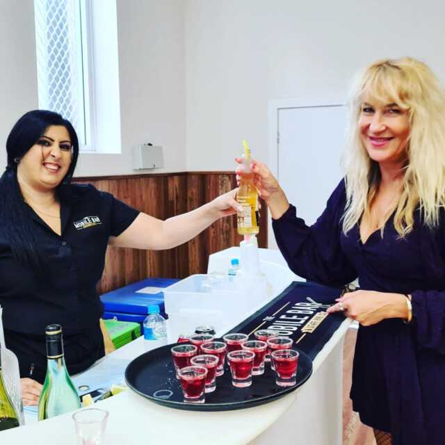 Harry's Surprise 80th Birthday 🎂🌹🍾🍸 - Saturday the 21st of March in Granville . 🍷🍹Jessica and Jordan mixing up Cocktails on the Glow bar 🍸 🥃  . Catering @buddyscatering  Party hire @parramattapartyhire Entertainment @iamdoctorsax . #barhiresydney #mobilebartenders #party #themobilebarco #bartenders #mobilebars #bartending #mobilebarservice #bar #drinkup #beer #spirits #parties #80th #functions #events #birthday #glowbar #shots #birthdayboy #sydney #itsmybirthday #prophire #mobilebar #whitebar #partyhire  . Event no 3 of 3.