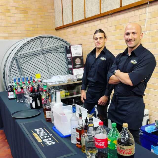 Pre wedding party🤵👰♀️ - 9th of April - Greystanes . Congratulations to the happy couple . Rob and Rhys mixing up drinks on the Trestle table bar . Production and event @jayproductionsevents Entertainment @zaffetlebnenentertainment Catering @buddyscatering . #themobilebarco #bartenders #mobilebars #bartending #mobilebarservice #bar #parties #functions #events #specialevent #party #weddingday #lebanese #sydney #wedding #groom #predrinks #topshelf #alcohol #weddingdress #sydneyevents #barhire #events #gettingmarried #drinks #cheers #family #friends #husbandandwife . Event 1 of 2.